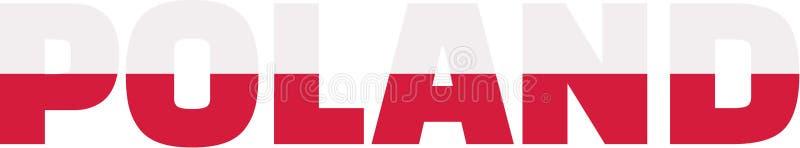 Poland flag word stock illustration
