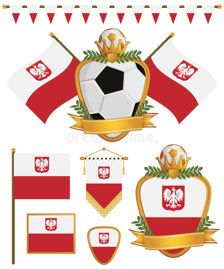 Download Poland flags stock vector. Illustration of object, emblem - 24610967