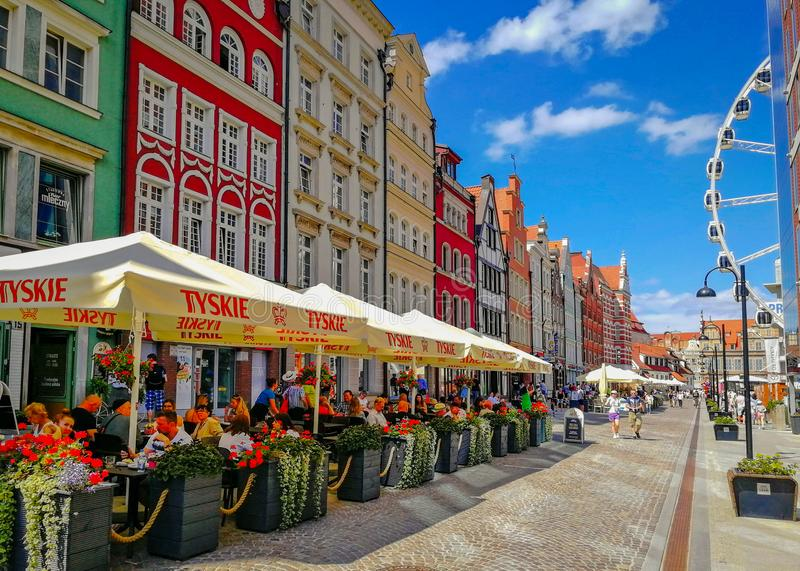 Sunshine over Old Town of Gdansk, Poland stock image