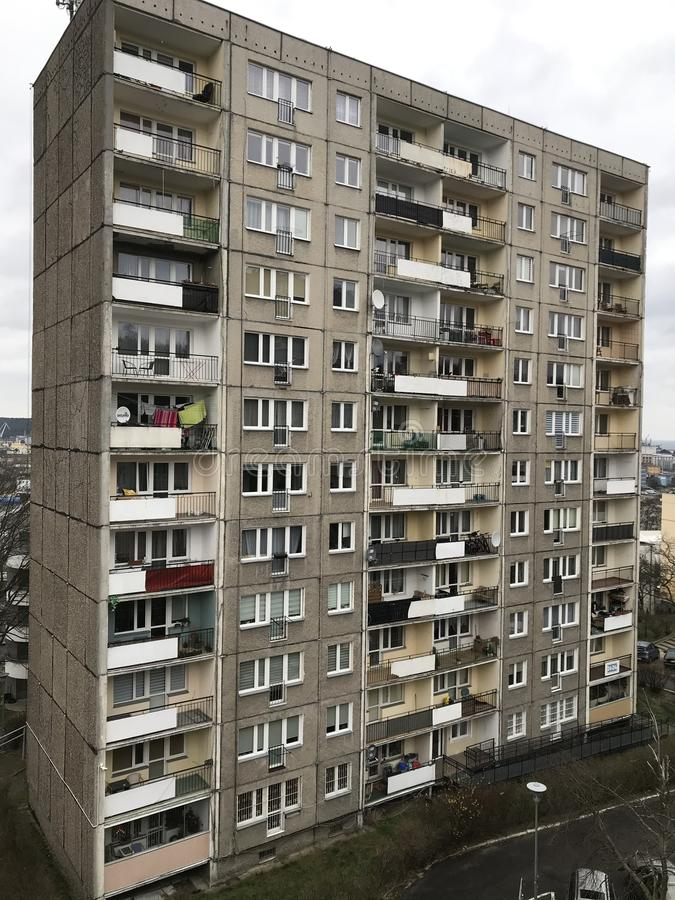 Poland, Gdynia: post communism style block of flats royalty free stock image