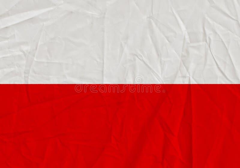 Poland grunge flag royalty free stock images