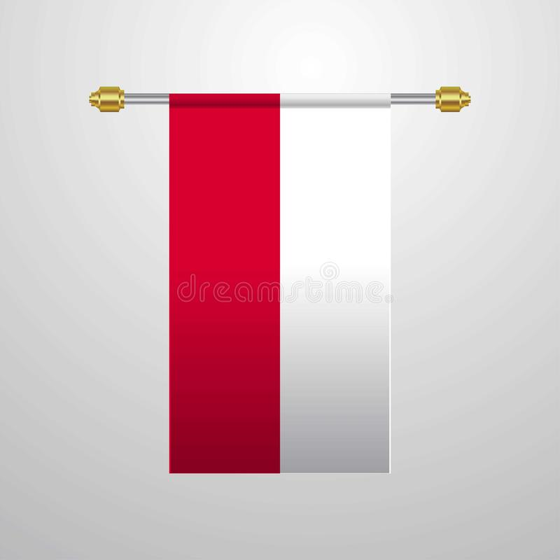 Poland hanging Flag. This Vector EPS 10 illustration is best for print media, web design, application design user interface and infographics with well stock illustration