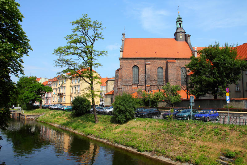 Poland - Kalisz. Poland - city view in Kalisz. Greater Poland province (Wielkopolska). Cityscape with Prosna river royalty free stock image