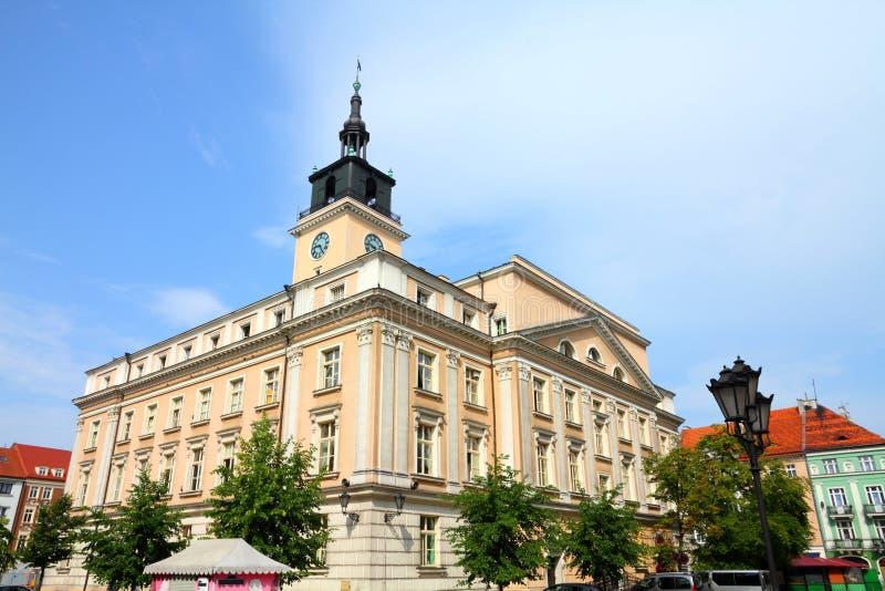 Poland - Kalisz. Poland - city view in Kalisz. Greater Poland province (Wielkopolska). City Hall at the main square (Rynek royalty free stock image