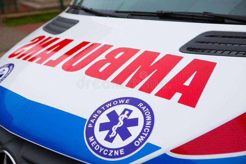14.11.2019 - Poland/ Kielce Ambulance in Poland. 14.11.2019 - Poland/ Kielce - Ambulance in Poland. Polish Ambulance car. Medical polish car stock images