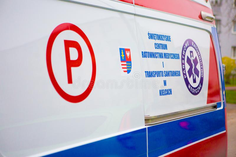 14.11.2019 - Poland/ Kielce Ambulance in Poland. 14.11.2019 - Poland/ Kielce - Ambulance in Poland. Polish Ambulance car. Medical polish car stock photos