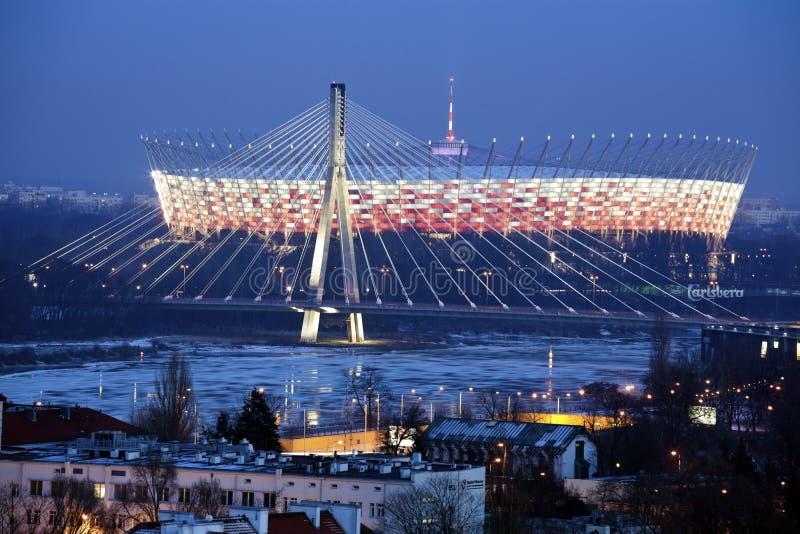 poland krajowy stadium Warsaw obrazy royalty free