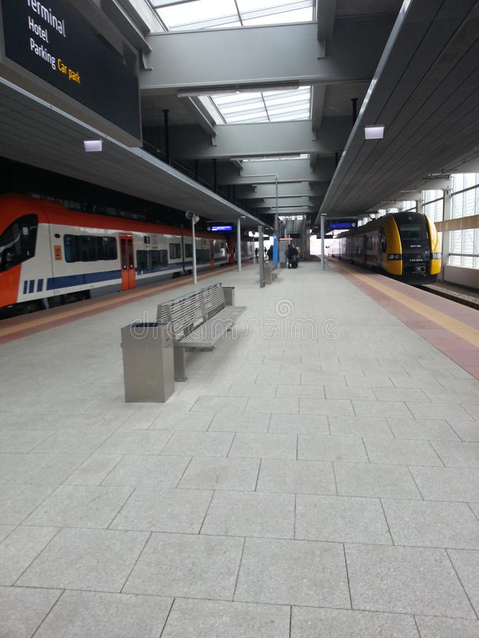 Poland krakow train station small royalty free stock photos