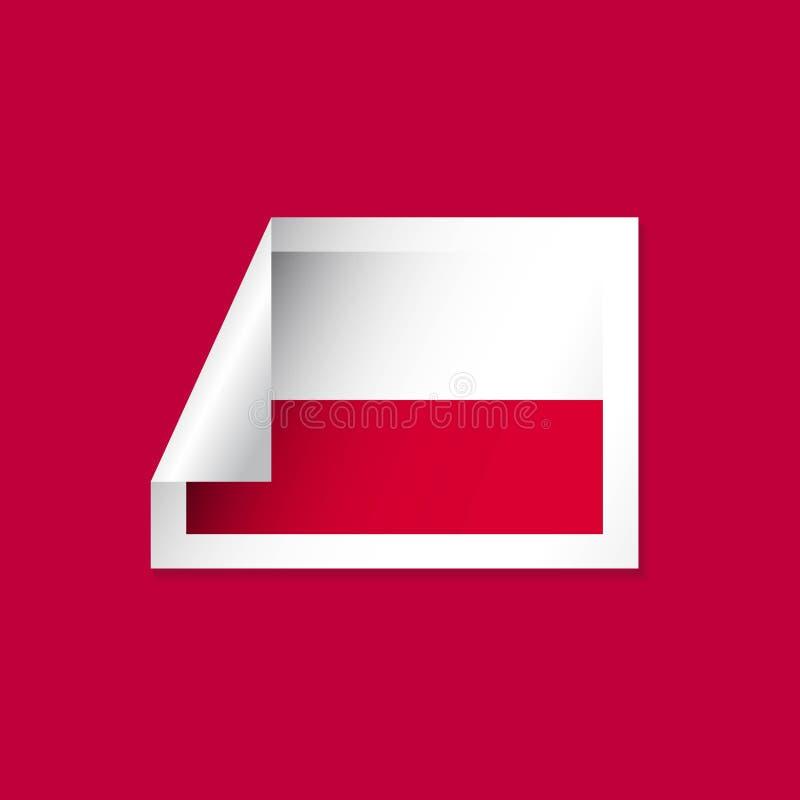 Poland Label Flags Vector Design Illustration stock illustration