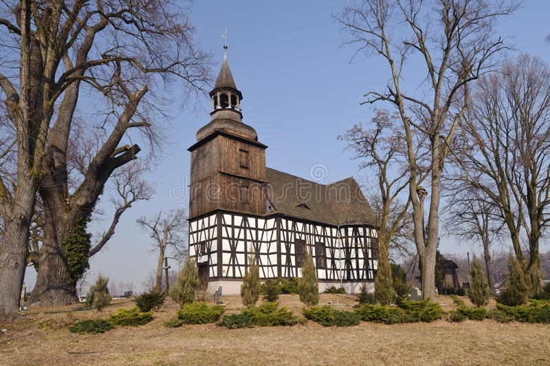 Poland (Lower Silesia) - country church stock images