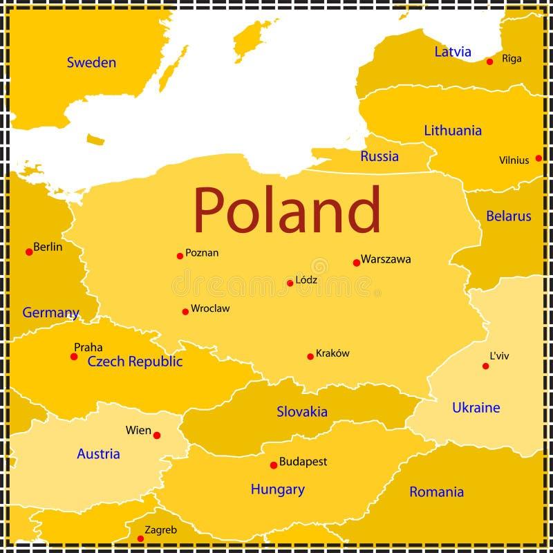 Free Poland Map. Royalty Free Stock Image - 13906386