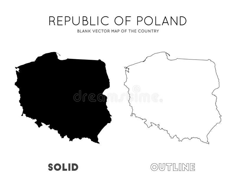 Poland map. stock illustration