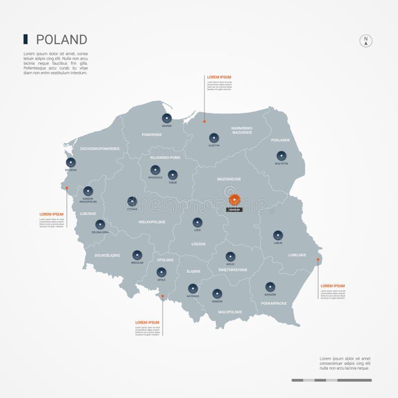 Poland infographic map vector illustration. vector illustration