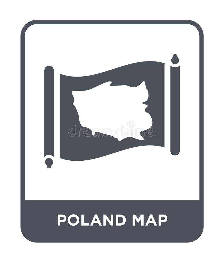 poland map icon in trendy design style. poland map icon isolated on white background. poland map vector icon simple and modern vector illustration