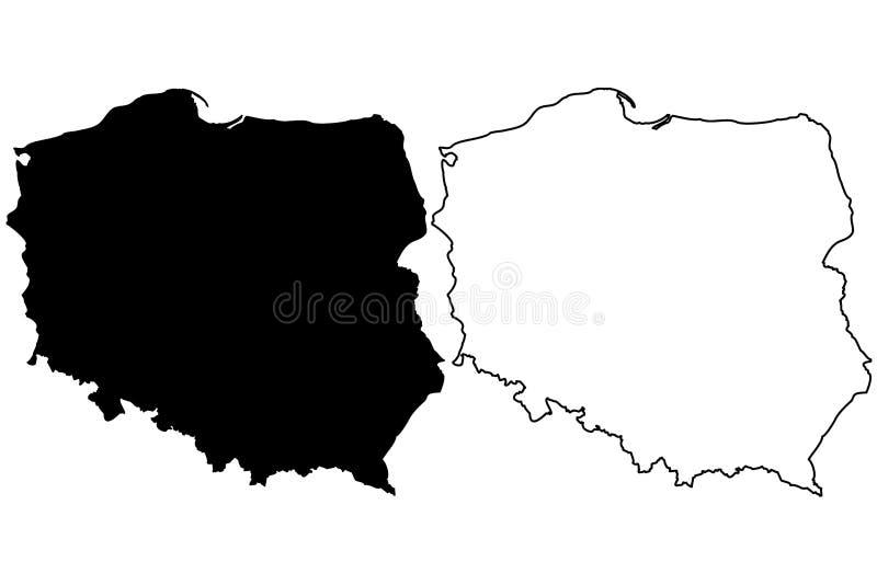 Poland map vector vector illustration