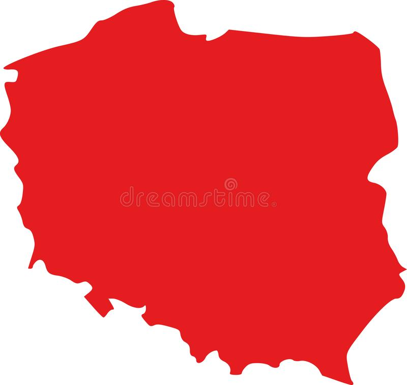 Poland map vector royalty free illustration