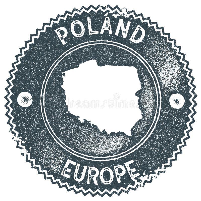 Poland map vintage stamp. vector illustration
