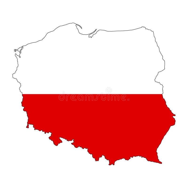 poland Mappa dell'illustrazione di vettore della Polonia royalty illustrazione gratis