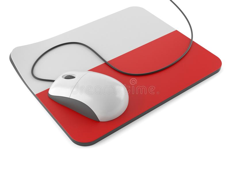 Poland mouse concept. Isolated on white background vector illustration