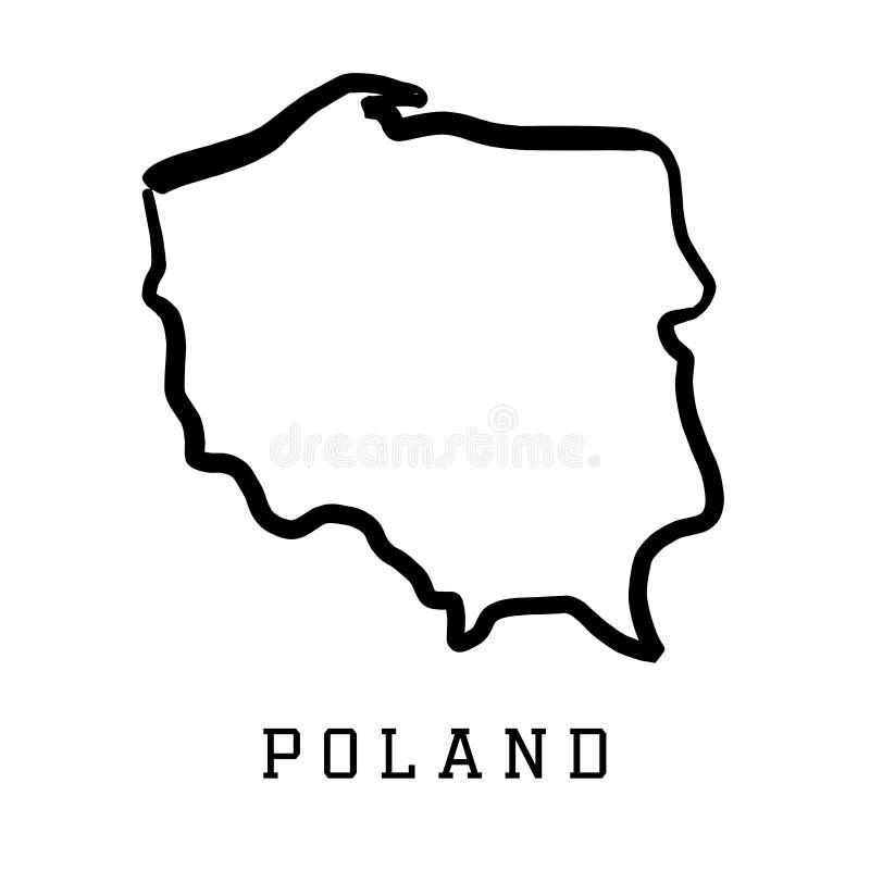 Poland outline map vector illustration