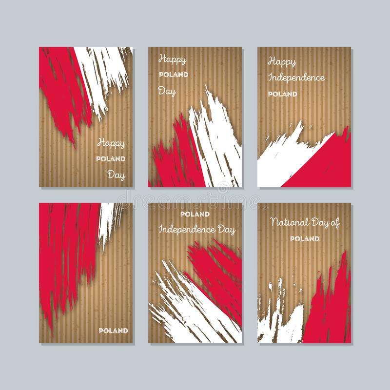 Poland Patriotic Cards for National Day. vector illustration