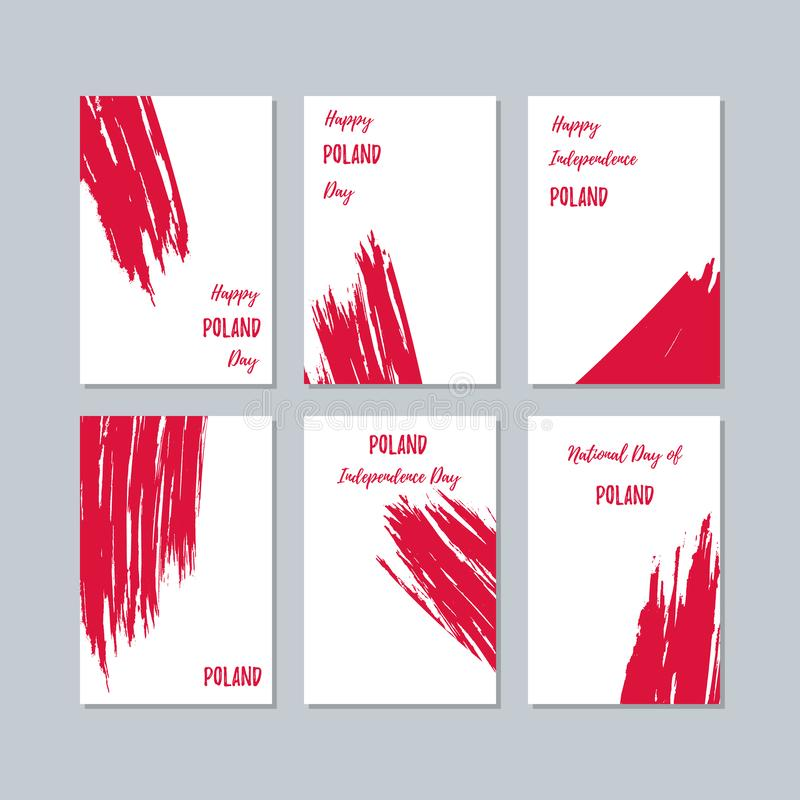 Poland Patriotic Cards for National Day vector illustration