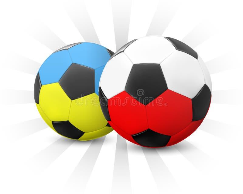 poland piłka nożna Ukraine ilustracji