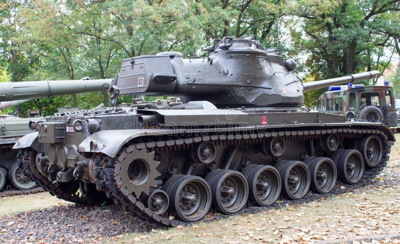 poland poznan Oktober 1, 2016 Patton M-47 - amerikansk behållare arkivbilder