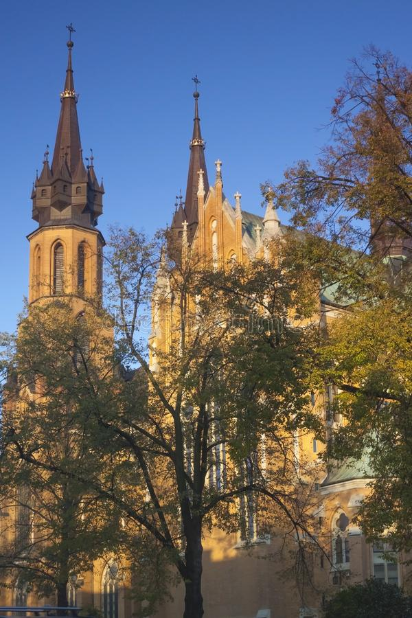 Poland, Radom, Cathedral sunlit in the afternoon royalty free stock image