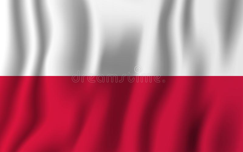 Poland realistic waving flag vector illustration. National country background symbol. Independence day.  vector illustration