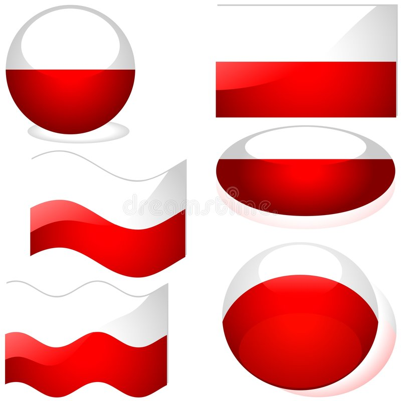 Poland Set vector illustration