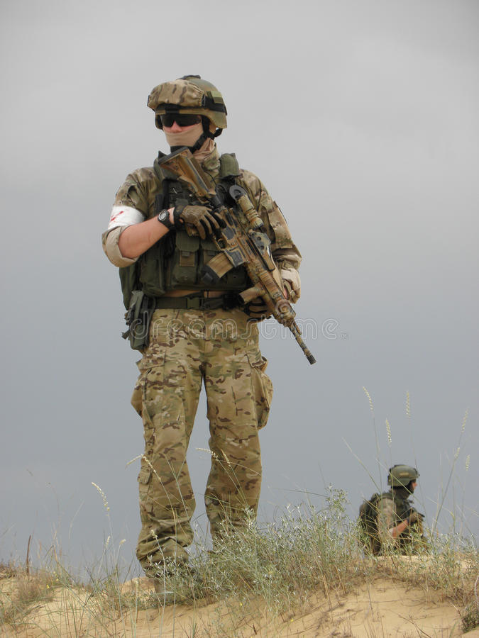 Poland soldier NATO portret stock photography