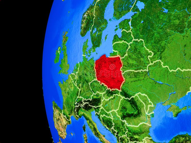 Poland from space royalty free illustration