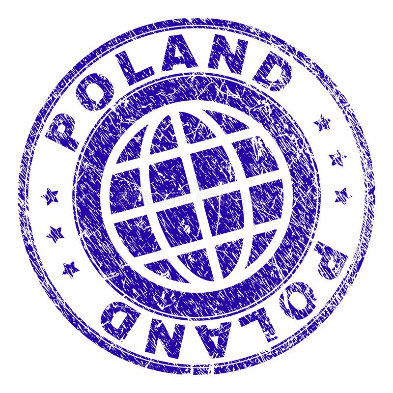 Grunge Textured POLAND Stamp Seal vector illustration