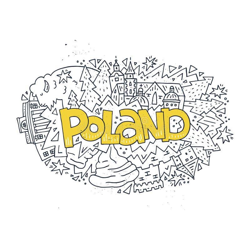 Poland symbols vector illustration stock illustration