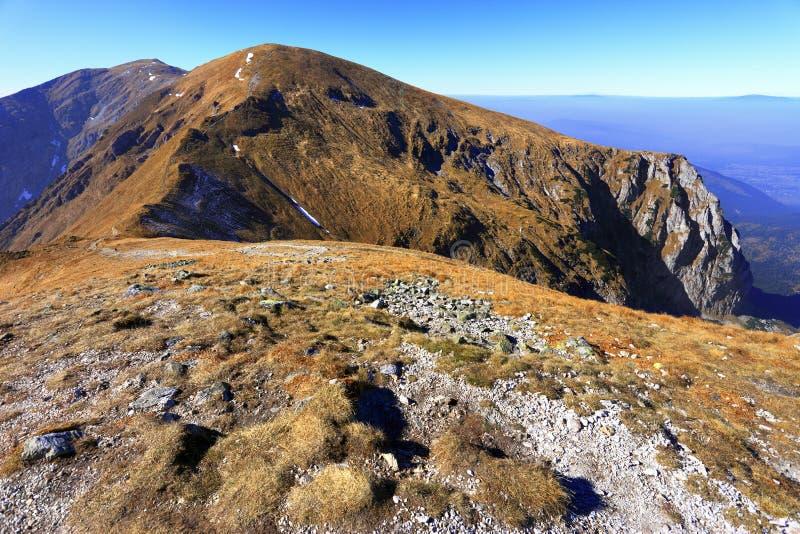 Panoramic view of Tatra Mountains in Lesser Poland - Western Tat. Poland, Tatra Mountains, Zakopane - Czerwone Wierchy, Kondracka Kopa, Malolaczniak, Wielka royalty free stock photo