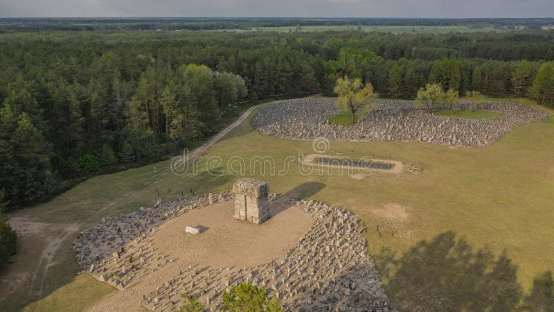 Memorial at Treblinka extermination camp. Poland, Treblinka, May 2019 - Memorial at Treblinka extermination camp royalty free stock photo
