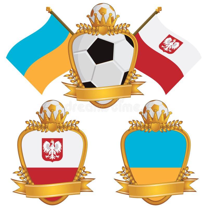 Poland And Ukraine Emblems Stock Images