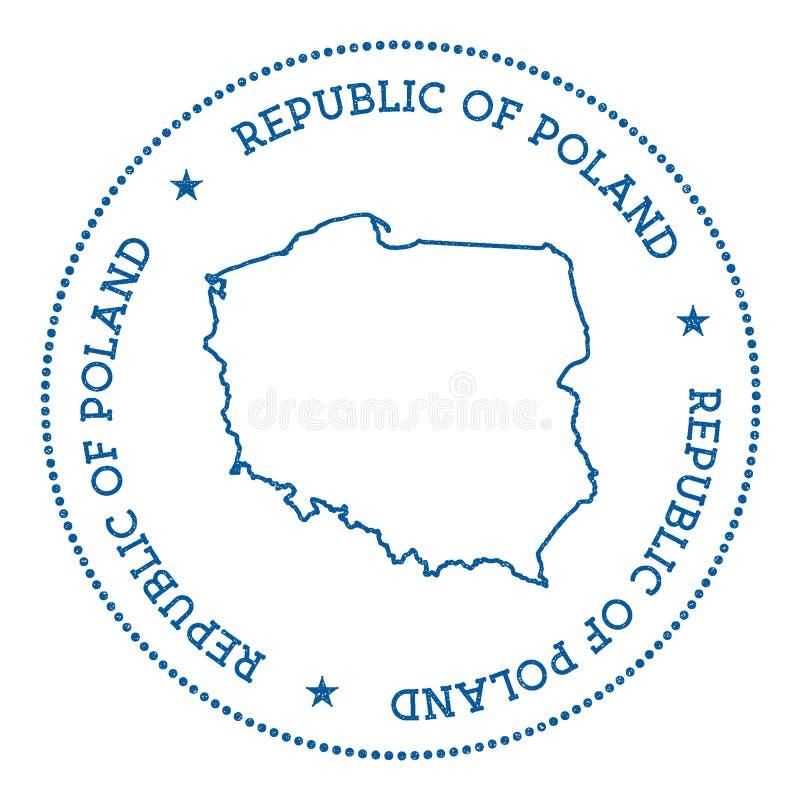 Poland vector map sticker. royalty free illustration