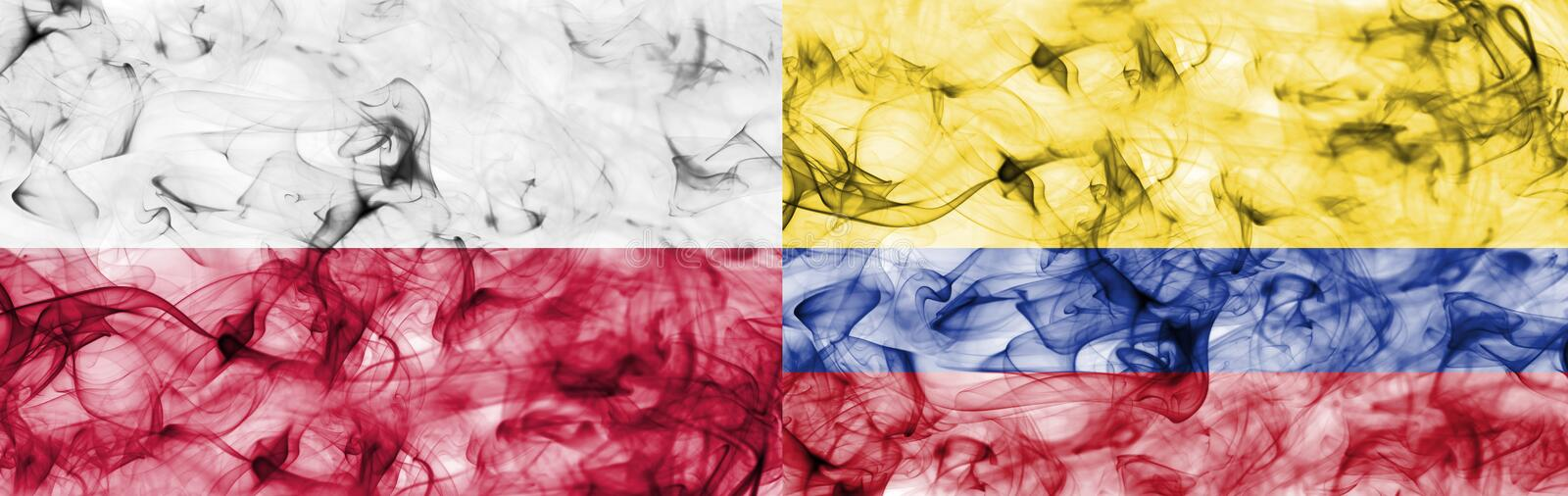 Download Poland Vs Colombia Smoke Flag Stock Illustration Illustration Of Game Colombia