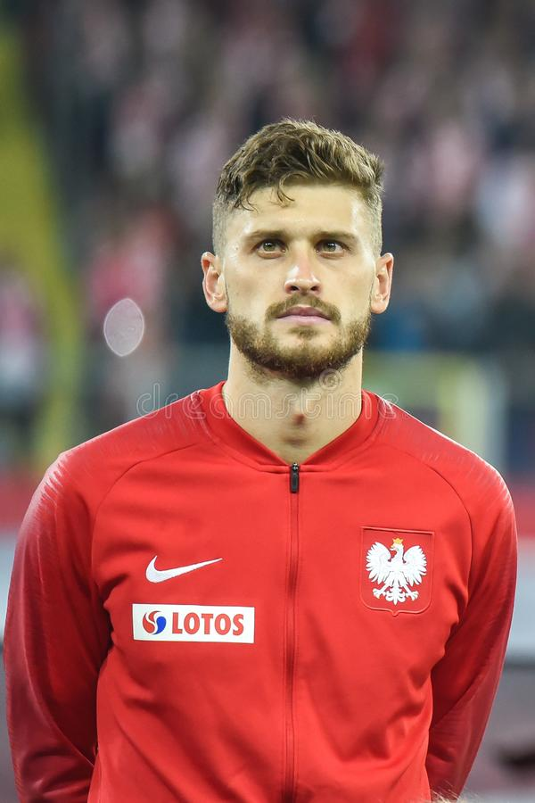 Free Poland Vs Portugal 2:3 . In The Picture Mateusz Klich Royalty Free Stock Photography - 141769777