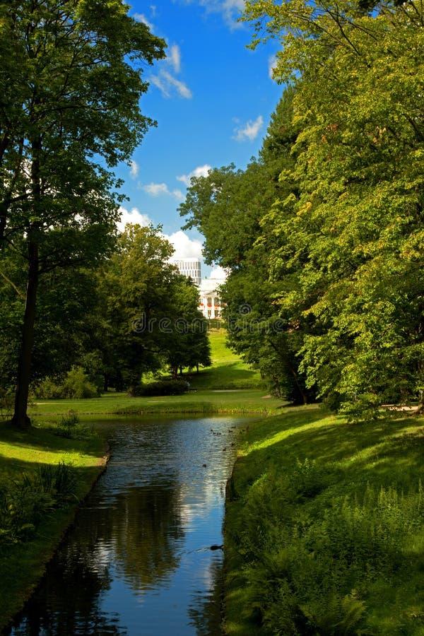 Poland - Warsaw,July 2016:Lazienki Royal Park in Warsaw,July 2016 stock image
