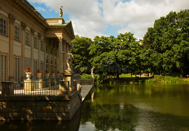 Poland - Warsaw,July 2016:Palace on the water in Lazienki Royal royalty free stock photography