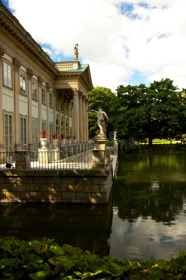 Poland - Warsaw,July 2016:Palace on the water in Lazienki Royal royalty free stock photos