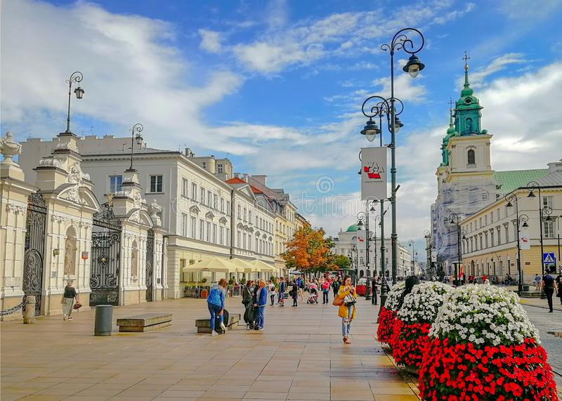 The Heart of Warsaw, Poland stock image