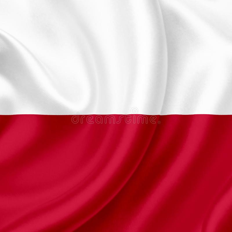 Poland waving flag stock photos