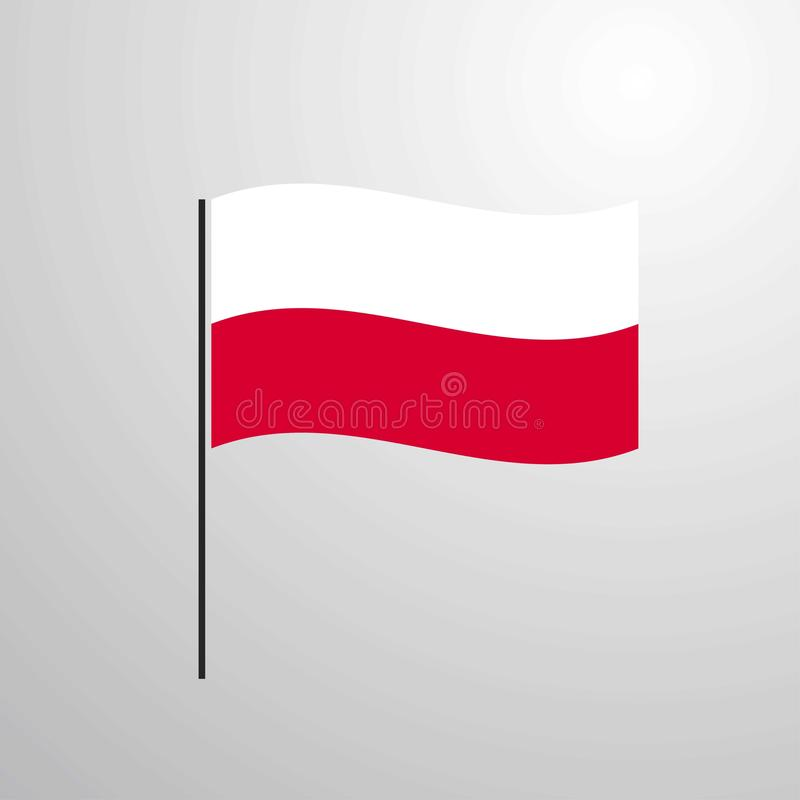 Poland waving Flag. This Vector EPS 10 illustration is best for print media, web design, application design user interface and infographics with well composed vector illustration