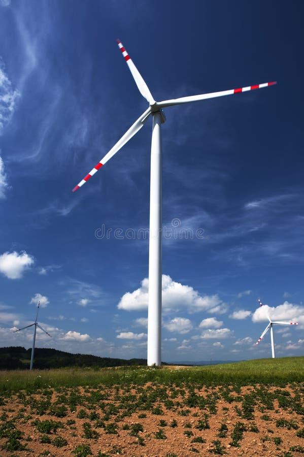 poland windmills royaltyfria bilder
