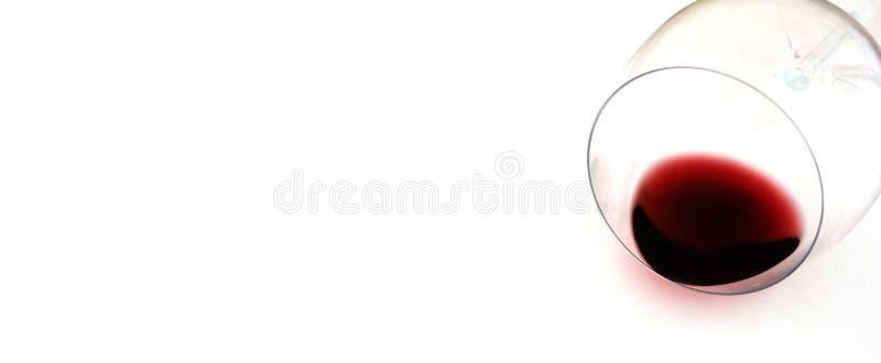 Polany wina szkło obrazy stock