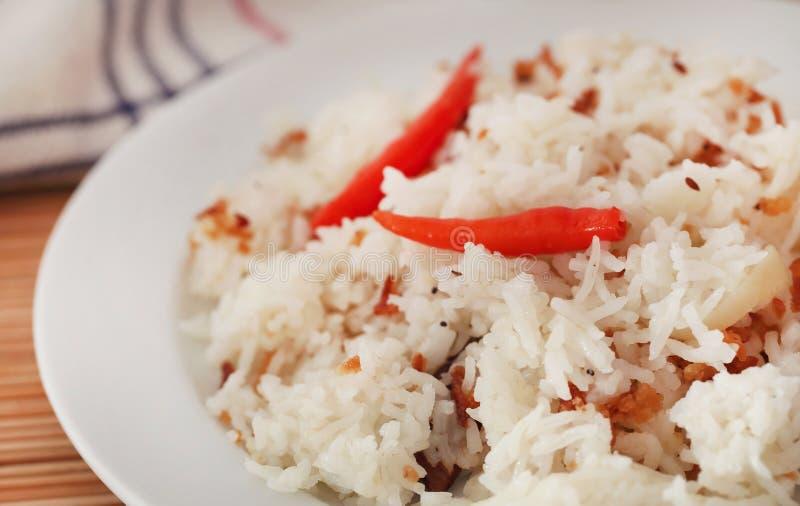 Polao o el pilaf es arroz especialmente cocinado fotografía de archivo libre de regalías